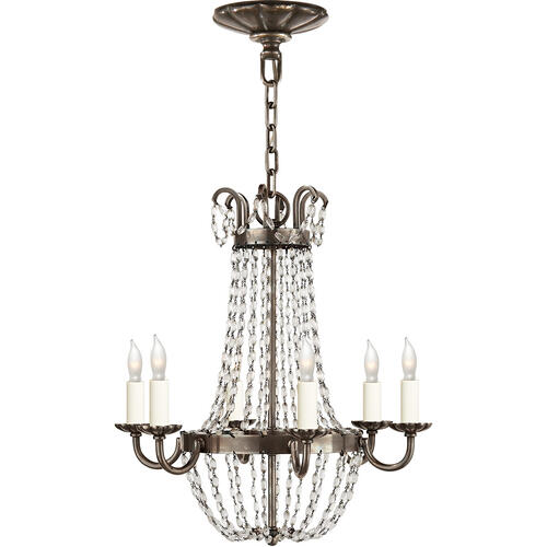 Visual Comfort - E F Chapman Paris Flea Market 6 Light 16 inch Sheffield Silver Chandelier Ceiling Light