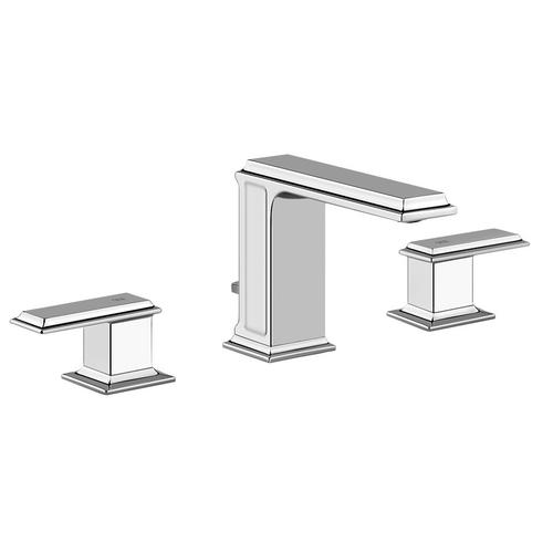 """Widespread washbasin mixer with pop-up assembly Spout projection 5"""" Height 4-5/8"""" 1-1/4"""" D"""