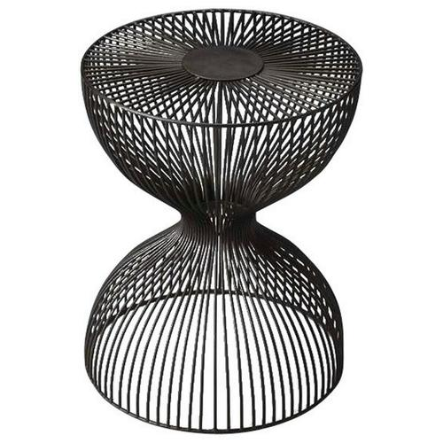 Butler Specialty Company - The open hour-glass figure of this Nicholas Iron Cage adds dimension and texture. The dark finish adds depth while the spaces between the iron wire allow for an open design.