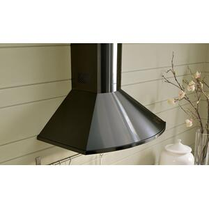 """Faber30"""" rounded pyramid wall hood with Variable Air Management"""