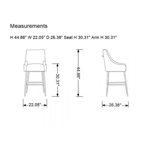 VIG Furniture - Modrest Gleason Modern Green Velvet Bar Stool