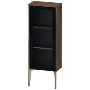 Semi-tall Cabinet With Mirror Door Floorstanding, Walnut Dark (decor)