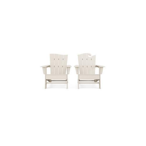 Polywood Furnishings - Wave 2-Piece Adirondack Set with The Wave Chair Left in Sand