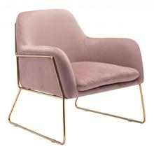Nadir Arm Chair Pink & Gold