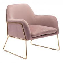 See Details - Nadir Arm Chair Pink & Gold