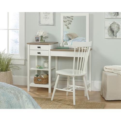 White Bedroom Vanity with Mirror