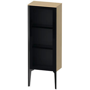 Semi-tall Cabinet With Mirror Door Floorstanding, Mediterranean Oak (real Wood Veneer)