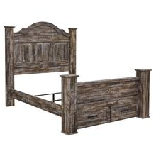 Lynnton - Rustic Brown 5 Piece Bed (Queen)