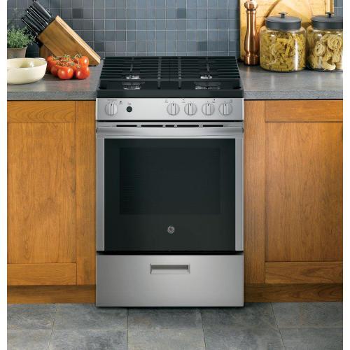 "GE Appliances - GE® 24"" Steam Clean Free-Standing/Slide-in Gas Range"
