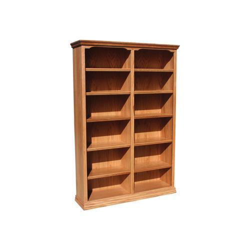 "Traditional Oak 48"" Standard Bookcase"
