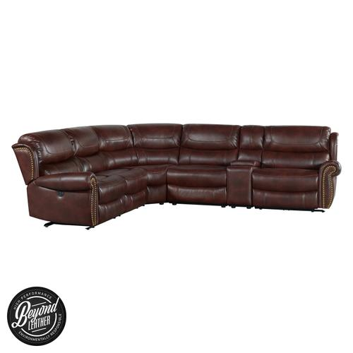 See Details - Hyde Park Sectional Set  Banner Mahogany