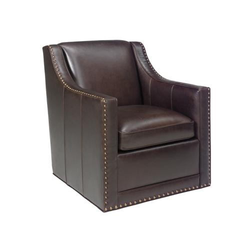 Barrier Leather Swivel Chair