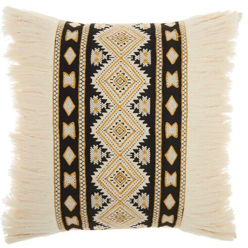 "Life Styles Ns796 Cream 20"" X 20"" Throw Pillow"