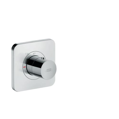 Polished Black Chrome Thermostat 120/120 for concealed installation