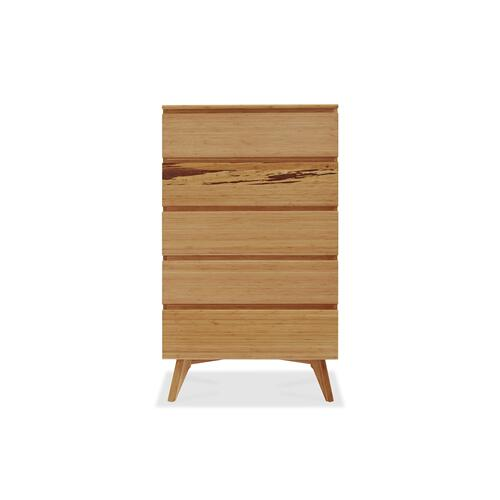 Azara Five Drawer Chest, Caramelized