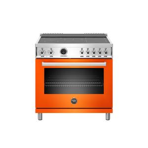 Bertazzoni36 inch Induction Range, 5 Heating Zones, Electric Self-Clean Oven Arancio