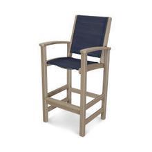 View Product - Coastal Bar Chair in Vintage Sahara / Sapphire Sling