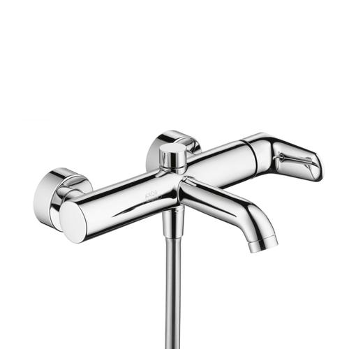 Stainless Steel Optic Single lever bath mixer for exposed installation