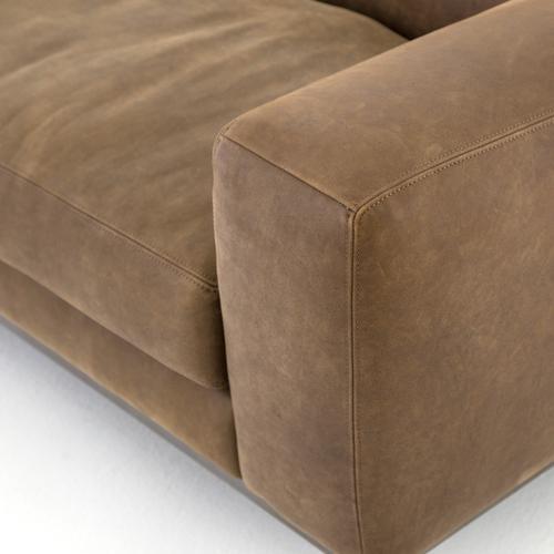 "Benedict Leather Sofa-96""-umber Grey"