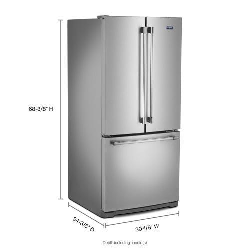 Maytag - 30-Inch Wide French Door Refrigerator - 20 Cu. Ft.