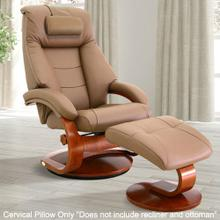 View Product - Mandal Cervical Pillow in Sand Top Grain Leather
