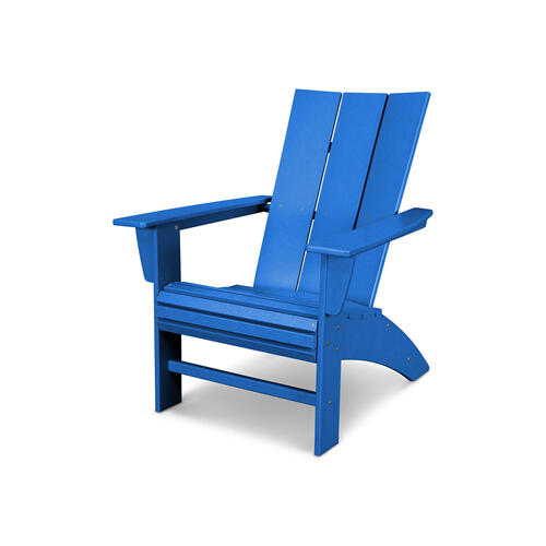 Pacific Blue Modern Curveback Adirondack Chair