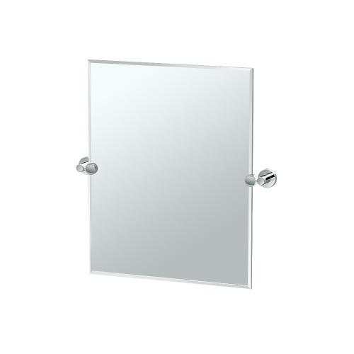 Glam Rectangle Mirror in Matte Black