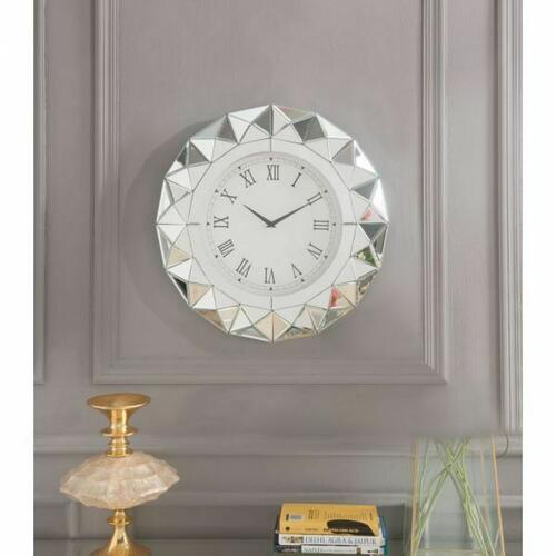 ACME Nyoka Wall Clock - 97046 - Mirrored