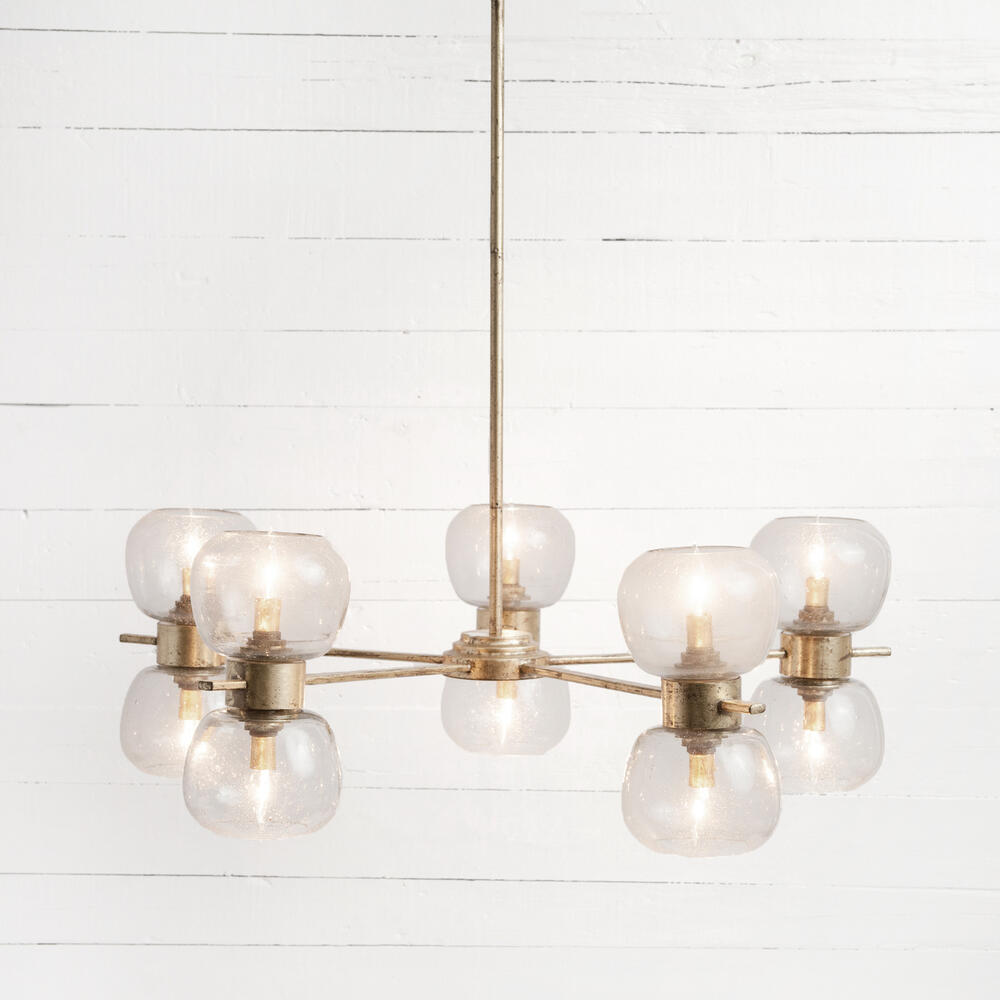 Pearson Chandelier-gold Leafed Iron