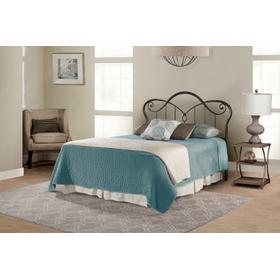 Casselton Queen Headboard With Frame, Black Pewter
