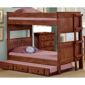 Full/Full Stackable Bunk Bed w/Queen Rails