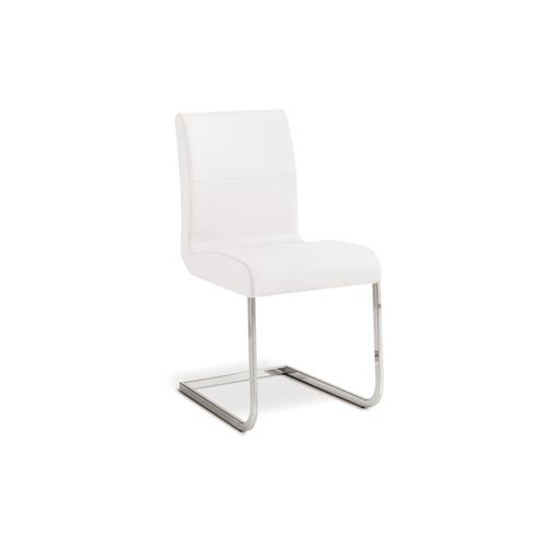 The Stella Italian White Leather Dining Chair