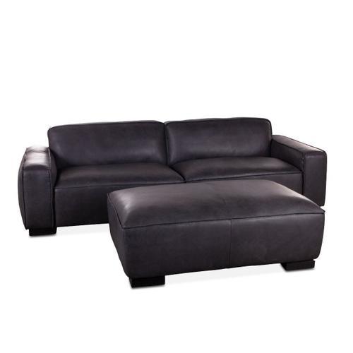 Jackson Leather Sofa in Vintage Black