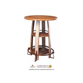 Bistro Table Base Barrel Shaped with Shelves