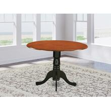 """Round Table with 29"""" Drop Leaves in Saddle Brown"""