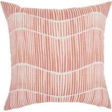 """Outdoor Pillows Bj151 Coral 18"""" X 18"""" Throw Pillow"""