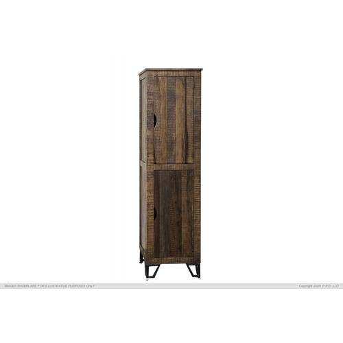 "2 Wooden Doors, 70"" Bookcase Cabinet"