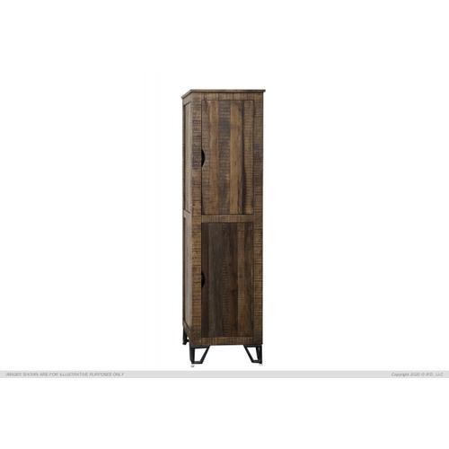 """2 Wooden Doors, 70"""" Bookcase Cabinet"""