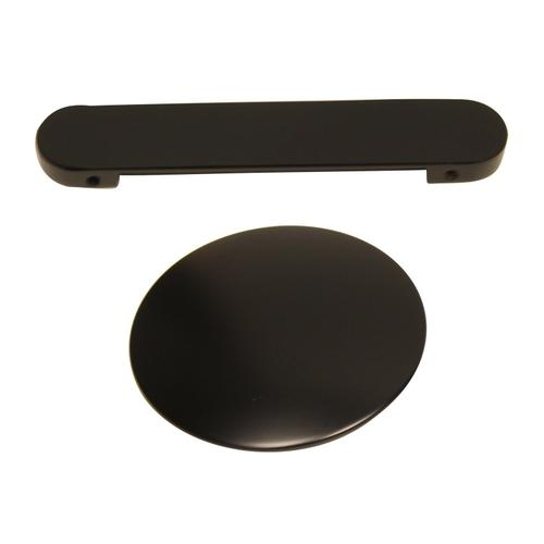 """Product Image - Normandy 70"""" Acrylic Double Slipper Tub with Integrated Drain and Overflow - Matte Black Drain and Overflow"""