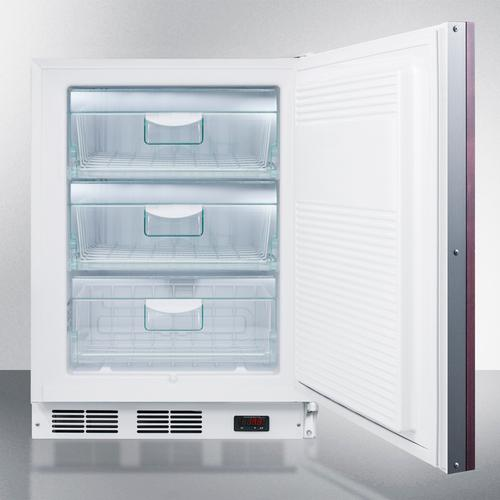 Commercial ADA Compliant Built-in Medical All-freezer Capable of -25 C Operation; Door Accepts Fully Overlay Panels