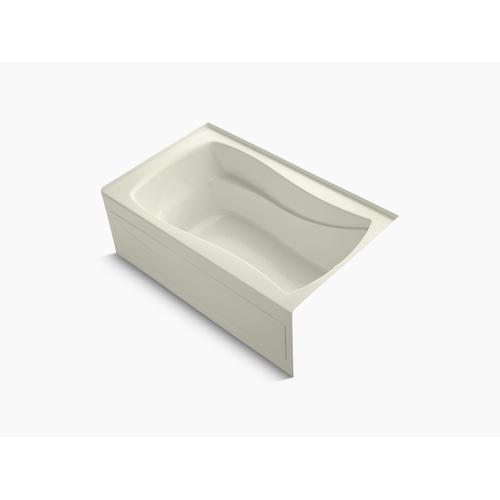 "Biscuit 60"" X 36"" Alcove Bath With Integral Apron, Integral Flange and Right-hand Drain"