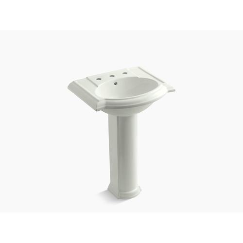 "Dune 24"" Pedestal Bathroom Sink With 8"" Widespread Faucet Holes"