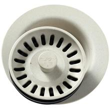 "Elkay Polymer 3-1/2"" Disposer Flange with Removable Basket Strainer and Rubber Stopper Bisque"