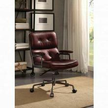 ACME Larisa Executive Office Chair - 92027 - Vintage Merlot Top Grain Leather