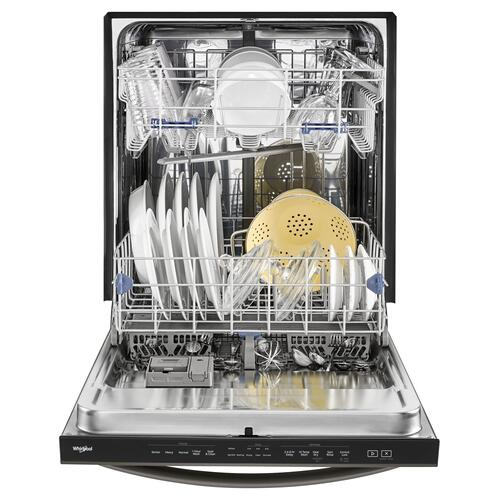 Stainless Steel Tub Dishwasher with TotalCoverage Spray Arm Black Stainless