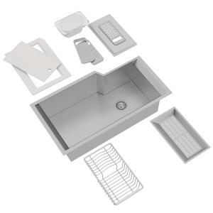 Culinario Single Bowl Stainless Steel Kitchen Sink With Accessories Product Image
