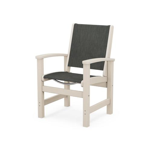 Coastal Dining Chair in Sand / Ember Sling