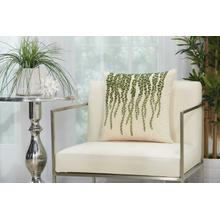 "Royal Palm Ns126 Green 18"" X 18"" Throw Pillow"