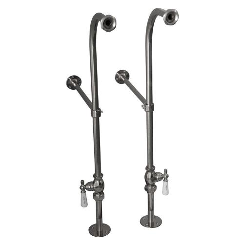 """Duet 67"""" Cast Iron Double Roll Top Kit - Polished Chrome Accessories"""