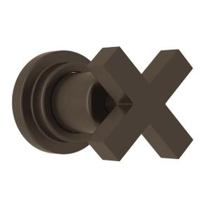 Lombardia Trim for Volume Control and 4-Port Dedicated Diverter - Tuscan Brass with Cross Handle